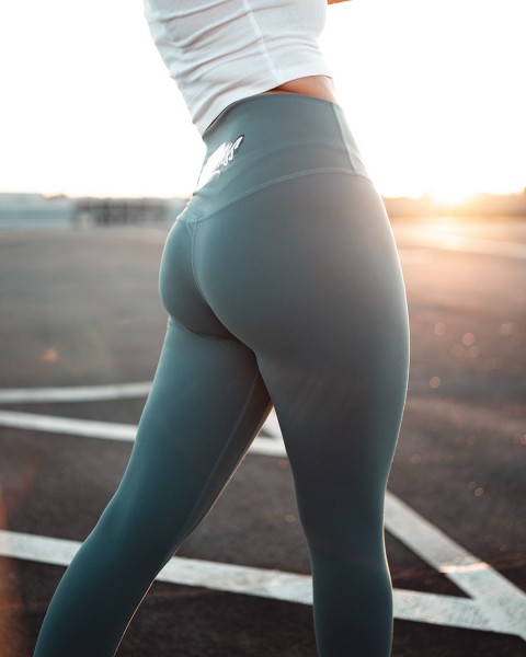 Highwaist Magic Leggings pastel blue grey